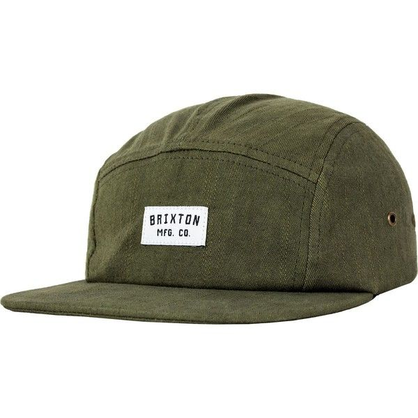 6bb603ebd95 Brixton Hendrick 5-Panel Cap ( 22) ❤ liked on Polyvore featuring  accessories