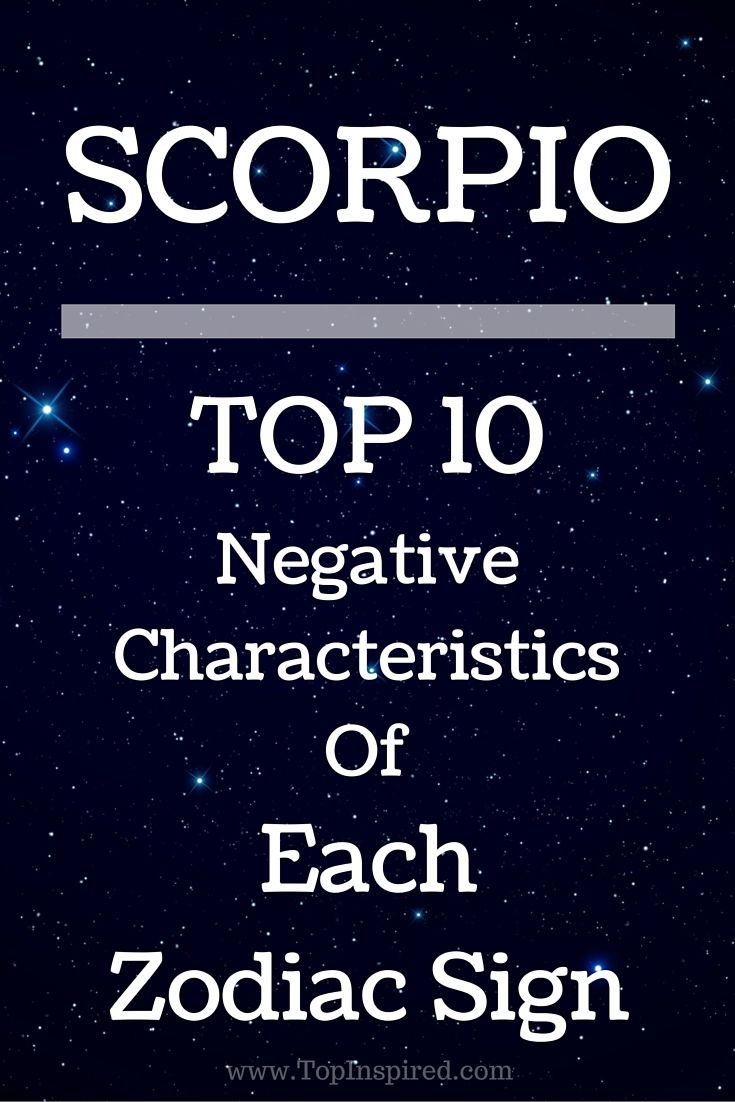 TOP 10 Negative Characteristics Of Each Zodiac Sign ...