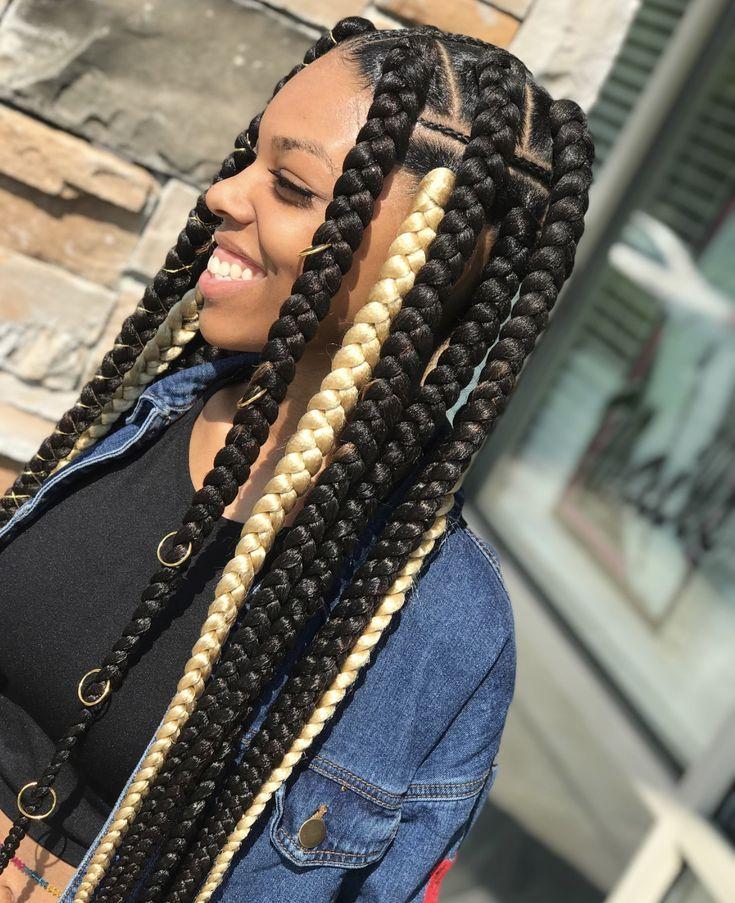 Nice Jumbo Braids Girls Hairstyles Braids Braided Hairstyles Braids For Black Hair