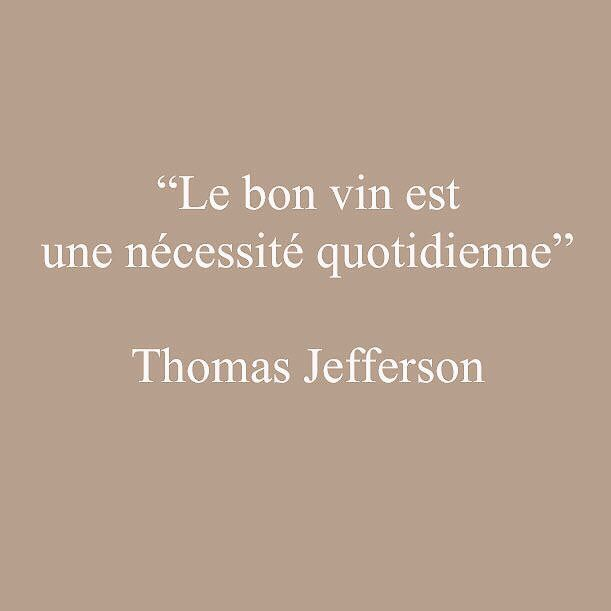 Citation de Thomas Jefferson sur le vin.