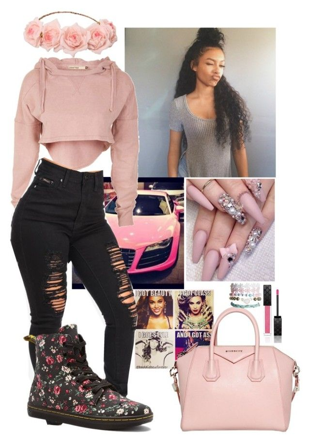 """""""🌸🌸✌️👅☺️"""" by trillestoutfit ❤ liked on Polyvore featuring Givenchy, Wet Seal, Gucci and Dr. Martens"""
