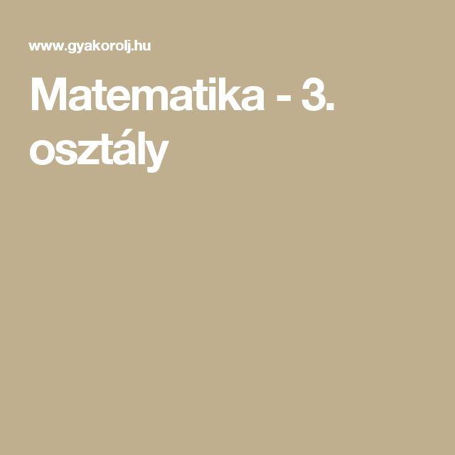 Matematika - 3. osztály