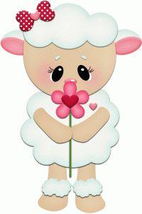 Silhueta Design Store - View Design # 55348: Cordeiro de cheiro de flor pnc
