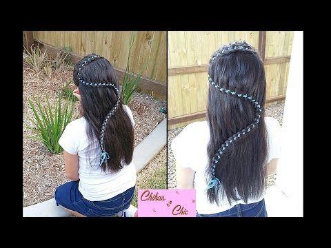 """S"" Braid (4 Strand Lace Ribbon Braid) | Snake Braid | Braided Hairstyles - YouTube"