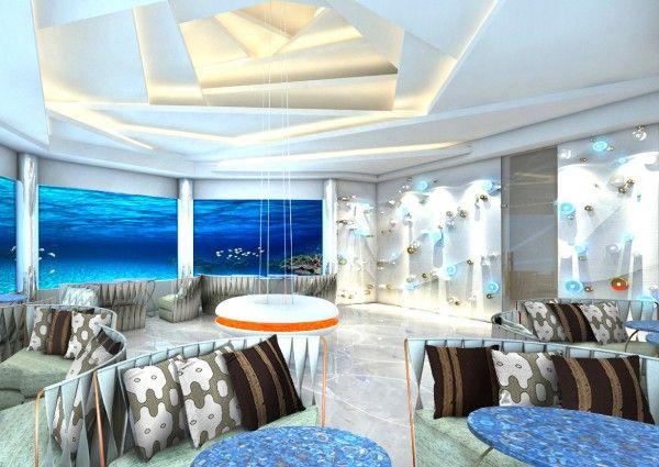Minus sechs Meter ist das erste Unterwasser-Restaurant des Malé-Atoll: M6m im neuen Malediven-Resort Ozen by Atmosphere.