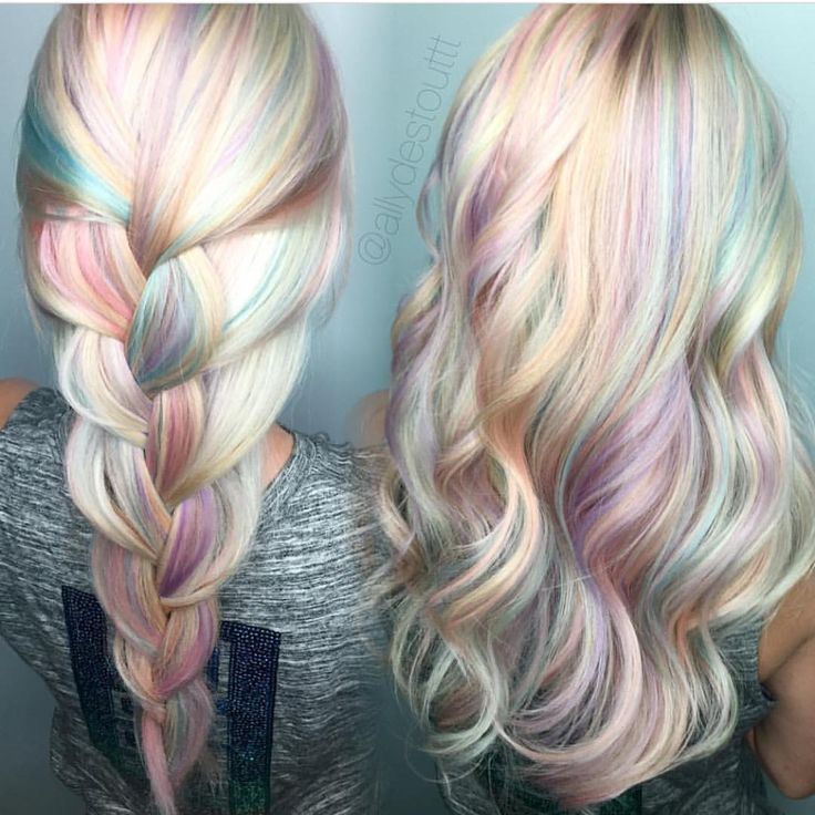 """1,661 Likes, 32 Comments - Hair Makeup Nails Beauty (@hotforbeauty) on Instagram: """"Opal hair color design by @allydestouttt Allyson your work takes my breath away Love you …"""""""