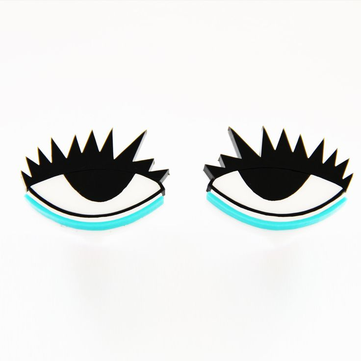 Eye in Eye Stud Earrings http://shop.nylon.com/collections/whats-new/products/eye-in-eye-stud-earrings #NYLONshop
