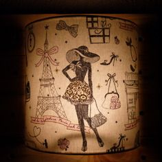 """Luminaire applique murale 20 cm tissu """"parisienne"""""""