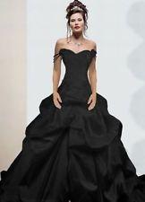 Neu Schwarz Brautkleid /Hochzeitskleid /Abendkleid/Ballkleid 32 34 36 38 40 42++