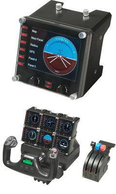 Upgrade your flight simulation experience for Microsoft Flight Simulator X with the Saitek Pro Flight Instrument Panel.