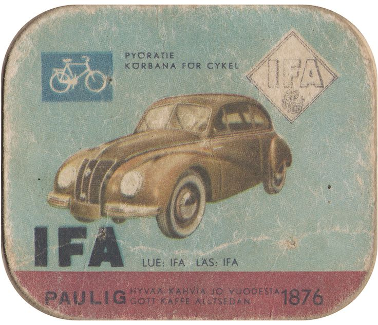 En nostalgitripp fram till jul med hjälp av Pauligs bilkort från mitten av 1900-talet. IFA #cars #vintage
