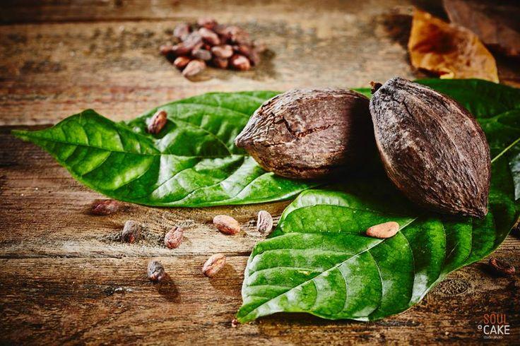Ziarna i liście kakaowca :)