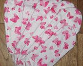 Set of 5 pads - Pink Butterfly