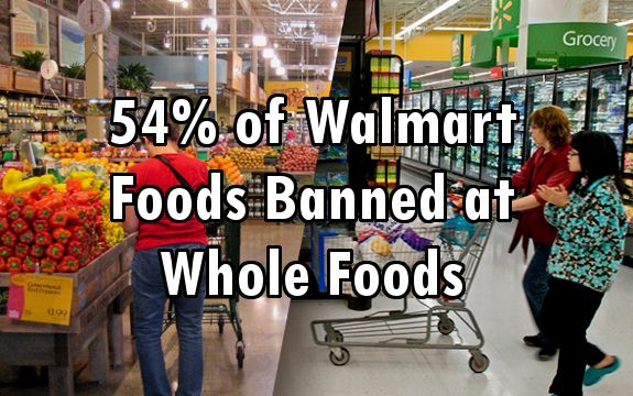 Dangerous Ingredients: 54% of Food Sold at Walmart is Banned by Whole Foods Market