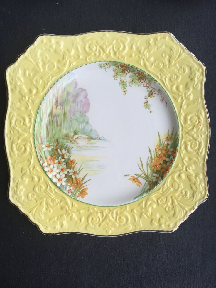 Royal Winton Grimwades Hand Painted Vintage Plate