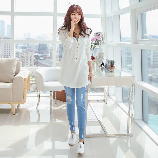 Korea Woman Big size clothing shop. [Jstyle] Mr Smith V1327 wash pants / Size : S,M,L,XL,2XL,3XL,4XL / Price : 35.10 USD #dailylook #OOTD #JSTYLE #plussize #loosefit #bottom #pants #jeans #skinnypants