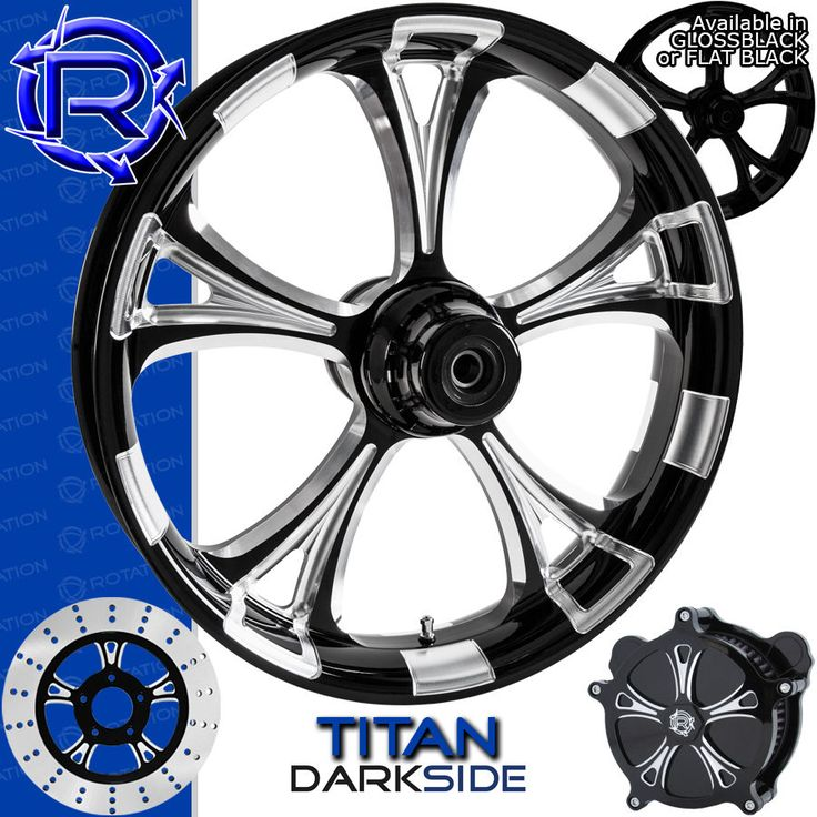 Rotation Titan Darkside Custom Motorcycle Wheel Harley