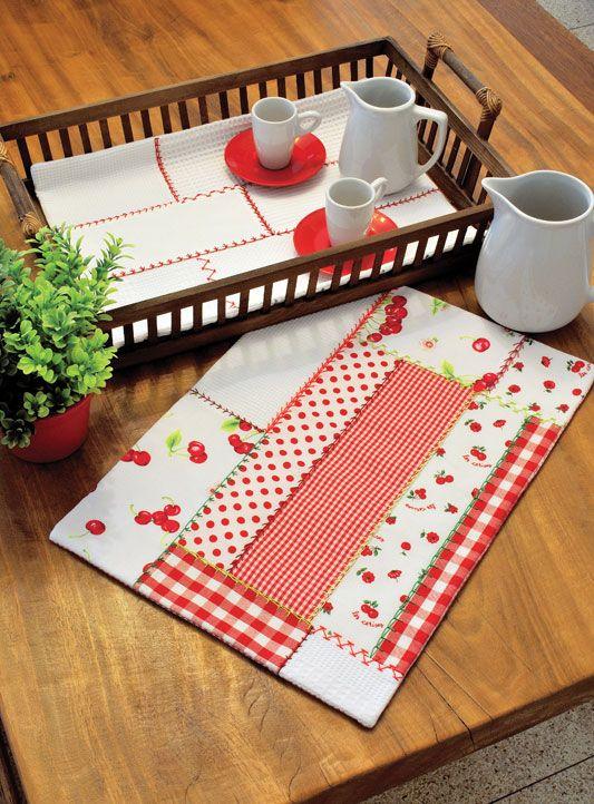Pap - Toalha de patch decorativa para bandeja