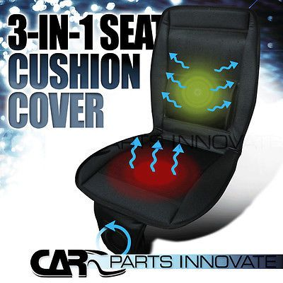 """45"""" X 19"""" 3In1 Cooling Heated Car Truck Massage Seat Cover Cushion w/ SwitchFan"""