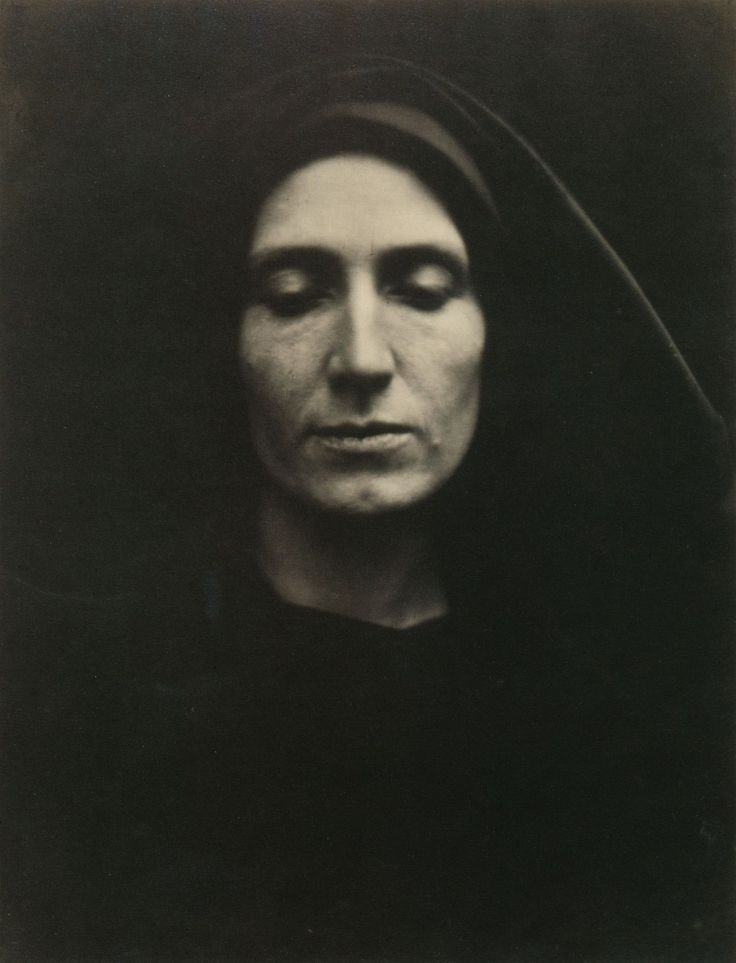 "Julia Margaret Cameron : ""My first lens was given to me by my cherished departed daughter and her husband, with the words, 'It may amuse you Mother, to try to photograph during your solitude at Freshwater.' "" As family was the cornerstone of Cameron's life and art, she took this photograph of her daughter, Julia Norman, in March 1868, five years before her daughter's death. Testimony beyond death."