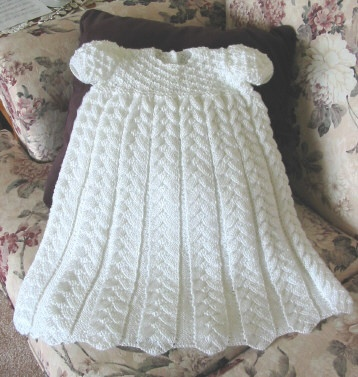 Pleated Herringbone Christening Gown -- from Elegant Ensembles to Knit 1