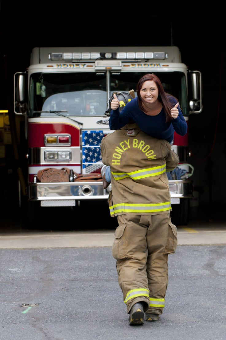 @Sharpshooters Photography LLC  ;; firefighter engagement; engagement photos