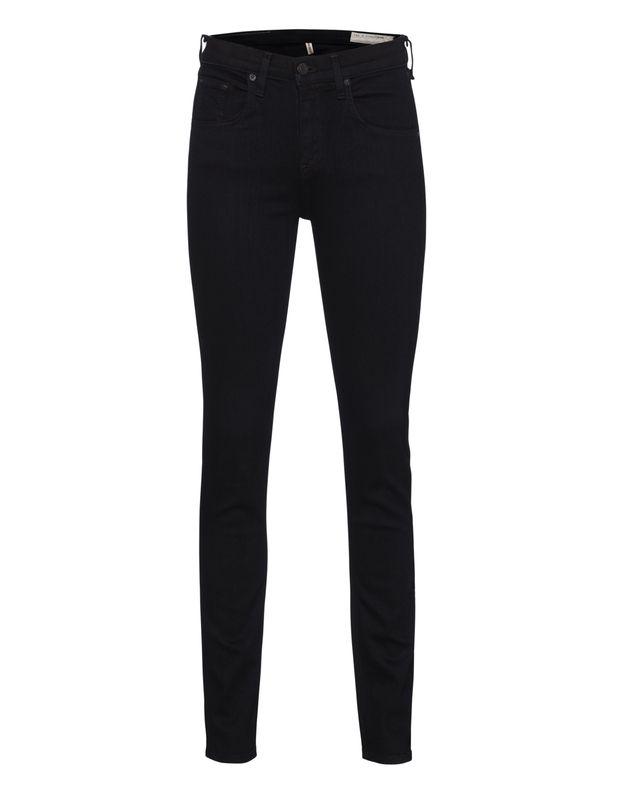 Cleane Skinny-Jeans Das coole New Yorker Label Rag & Bone kreiert junge Urban-Styles!  Schwarze Skinny-Jeans mit hohem Bund im typischen Five-Pocket-Style aus einem Baumwoll-Gemisch im cleanen Design mit dezentem Label-Stitching auf der Gesäßtasche.  Egal ob mit Sneakern oder Heels, diese Skinny macht immer eine gute Figur!