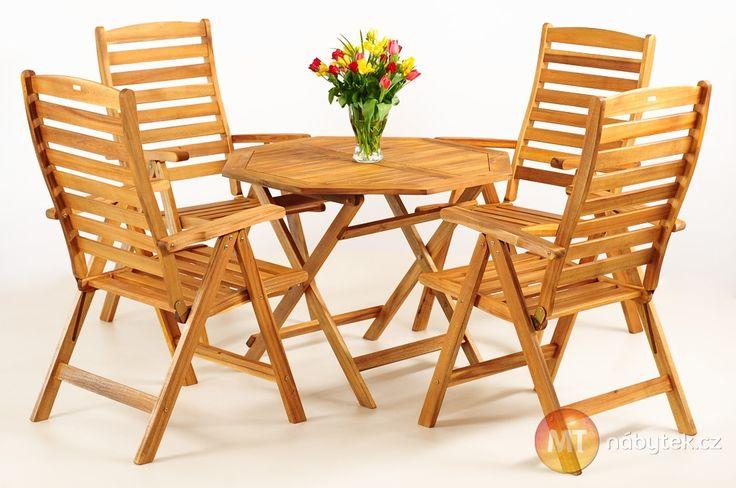 Zahradní stůl a 4 zahradní skládací židle Kirk 2