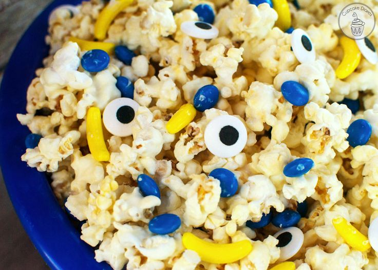 Minions Popcorn - The perfect treat for a Minions birthday party or movie night!