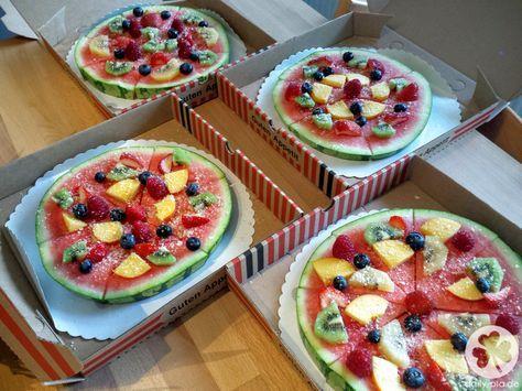 Melonen-Pizza zum Frühstück