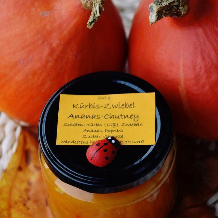 Kürbis-Zwiebel-Ananas Chutney⇒ Regio-Markt ♥