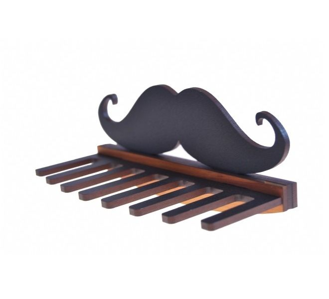 It's a guy thing moustache tie, belt and key holder by Ian Blackwell, New Zealand.