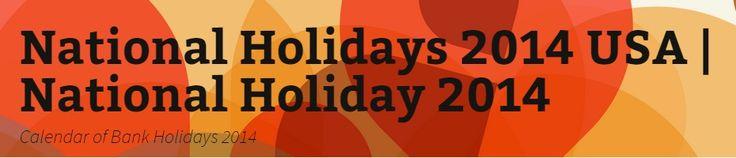 A calendar of bank holidays