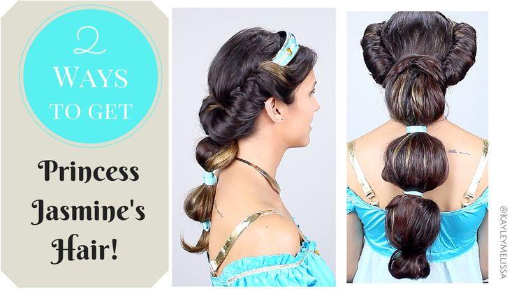 Disneys Princess Jasmine hair tutorial by Kayley Melissa