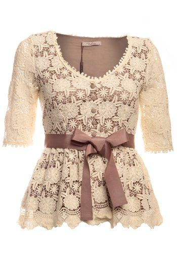 vintage inspired lace blouse