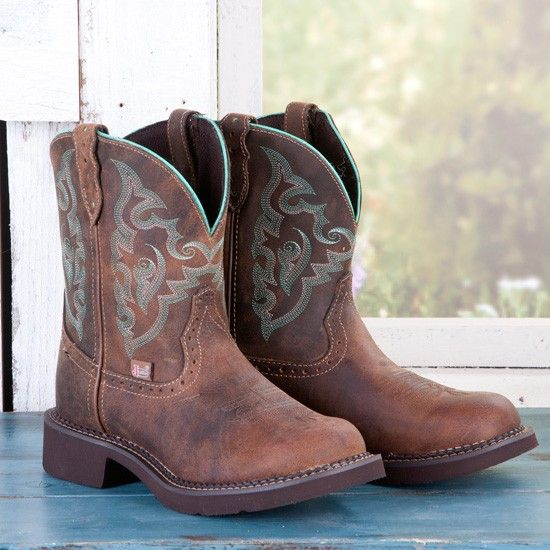 Justin Ladies Green Stitched Gypsy Boots @ www.rods.com $89.99