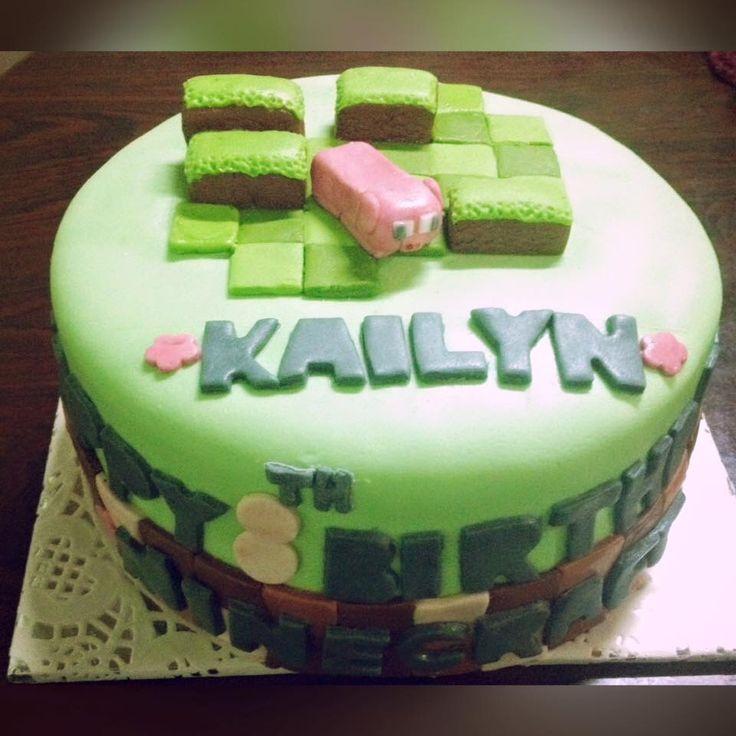Minecraft Cake....Splurge, Treat Yourself! Follow us on Facebook: https://m.facebook.com/splurgedessertsandcatering/ Now serving Durham Region, Ontario, Canada