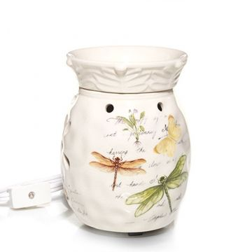 Oh boy, I am wanting this ....  Dragonfly & Butterfly Ceramic : Electric Wax Melts Warmer - Lights Up : Yankee Candle