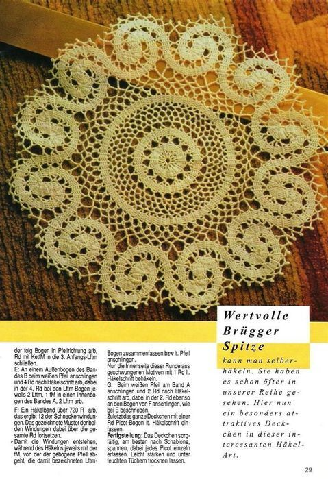 Round and spiral motif Bruges crochet lace