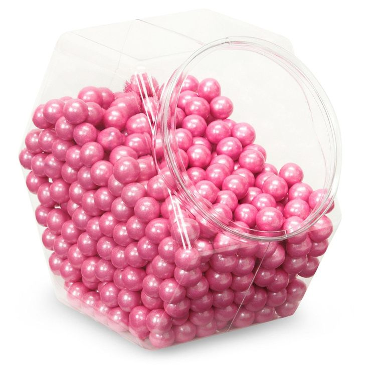 Shimmer Pink Sixlets Candy from BirthdayExpress.com