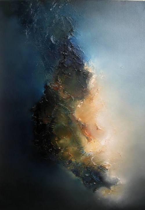 Ce tableau est un oeuvre abstrait. il y a de nombreuse couleurs dans cette oeuvre mais la principal que nous pouvons distinguer sont le orange,le bleu,le kaki,le jaune et le brun. Cette toile est très intéressante, la forme et les couleurs me fais beaucoup penser a une voie lactée. Je crois que la technique utiliser est l'acrilique