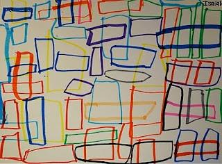 Adventures of an Art Teacher: 1st Grade Geometric Shape Drawings