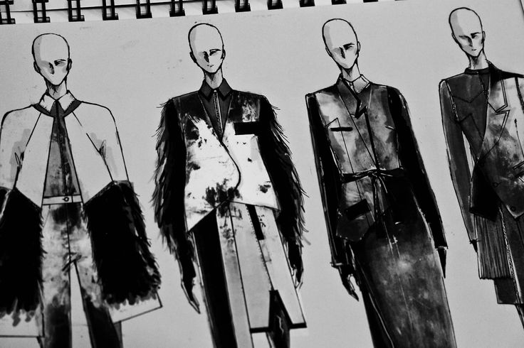 Fashion Sketchbook - fashion design drawings; fashion sketches // Peter Do