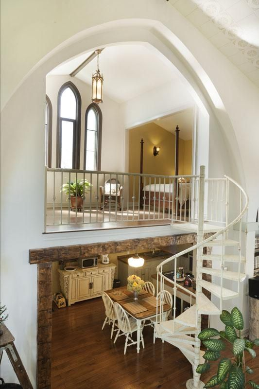 I really want to live in a converted church someday...this one's a beauty