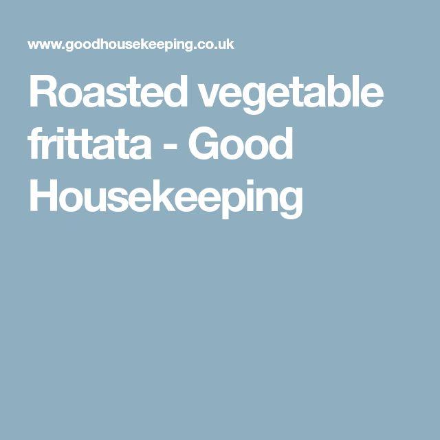 Roasted vegetable frittata - Good Housekeeping