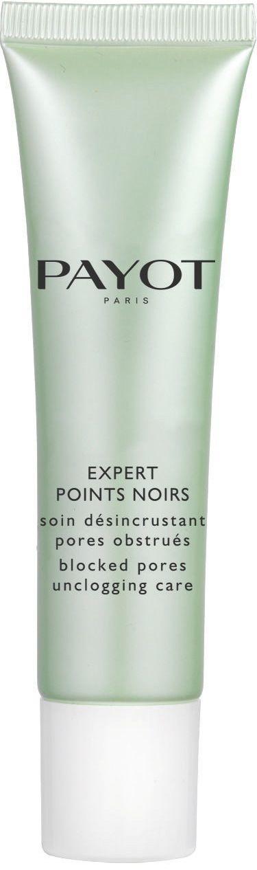 EXPERT POINTS NOIRS (30 ml)  Die Pflege zur Reinigung von Mitessern und verstopften Poren. Das flüssige, nicht fettende Gel erzielt eine sofortige Klärung der Haut. Durch die Anreicherung mit einem Extrakt aus chilenischer Minze, Glycolsäure und einem Hagebuttenextrakt wirkt die Pflege in drei Stufen:  1. Klären des Hautbildes 2. Öffnen der Poren 3. Verfeinern der Poren http://www.best-kosmetik.de/marken/payot/unreine-mischhaut/expert-points-noirs.html