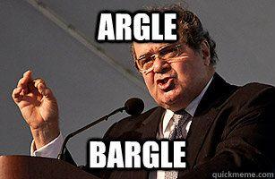 ARGLE BARGLE - ARGLE BARGLE  Scalia