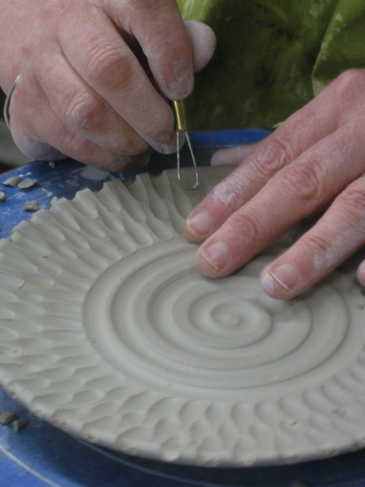 saucer carving 2, GARY JACKSON: FIRE WHEN READY POTTERY