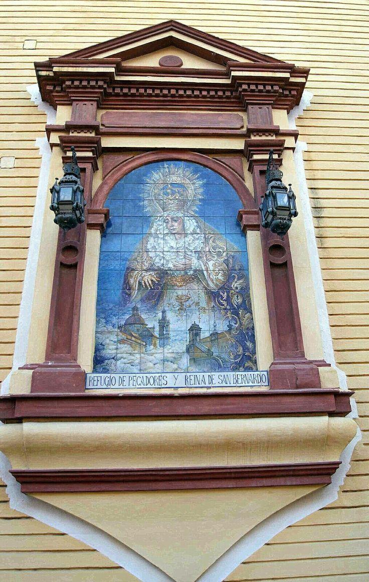 Retablo cerámico de María Santísima del Refugio