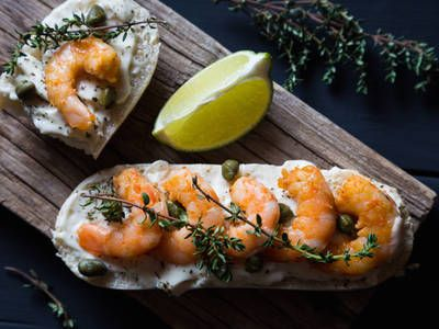 Quick And Easy Grilled Shrimp Mascarpone Toast